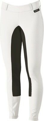 Kerrits Sit Tight Suede Full Seat Riding Breeches White Size: Large