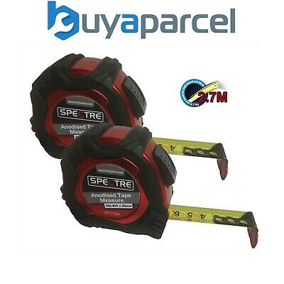 2 x Spectre Trade Auto Lock 5m / 16ft Tape Measure Metric Imperial 2.7m Standout