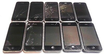 Lot of 10 Apple iPhone 3GS 16GB A1303 AT&T - POWER UP - GOOD LCD - READ BELOW