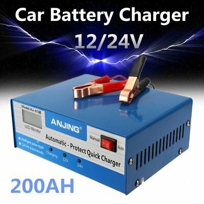 Car Battery Charger Automatic Intelligent 130/250V 12/24V 200AH Pulse Repair