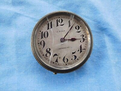 P22 Majestic Watch Co Made For Tiffany & Co 8 Day Travel Clock Vintage
