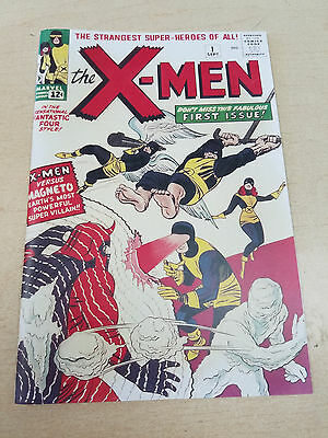 REPRINT X-MEN #1 1963 Custom Made Cover with 1965 Original Reprint XMEN