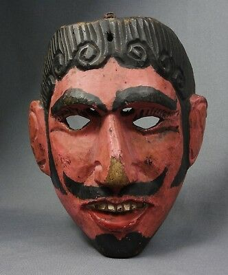 Handcarved Vintage  Mask from Guatemala