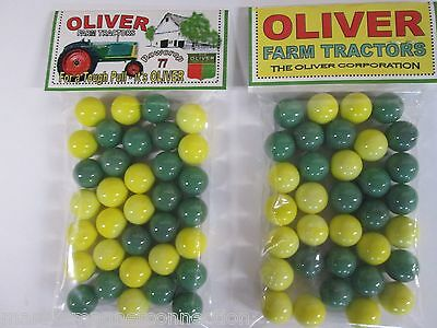 2 Bags Of Allis Chalmers WD45 Farm Tractor Promo Marbles