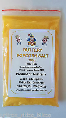 100g Butter Popcorn Salt, Cinema Quality Popcorn Salt, We Sell Popcorn Supplies