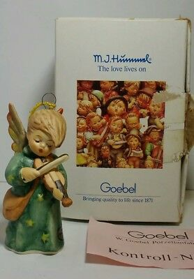M J Hummel CELESTIAL MUSICIAN Ornament Hum 646 TMK-7 Mint in Box Playing Violin
