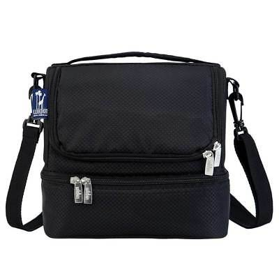 Rip-Stop Double Decker Lunch Bag in Black [ID 3048027]