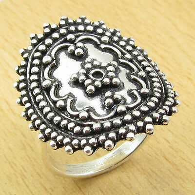 MEN'S ANCIENT STYLE Ring Size US 6 ! Silver Plated BEAUTIFUL Jewelry