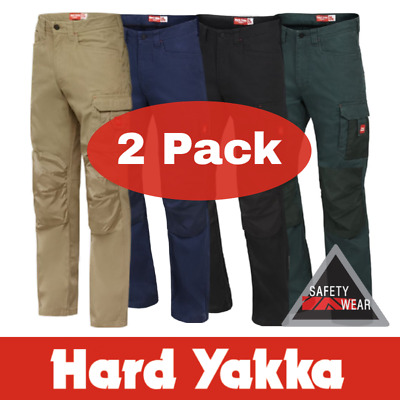 2x NEW Hard Yakka Legends Work Pants Y02202 ALL SIZES Navy Khaki Black Green