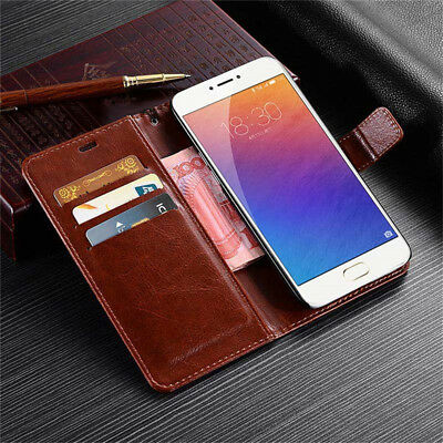 For Meizu A5 M5S M5 M6 Note Durable Magnetic Leather Wallet Flip Case Cover Skin