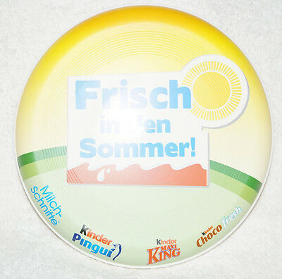Kinder Maxi King Pingui Milchschnitte Surprise Company Frisbee Toy Advertising