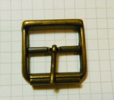 "Lot Of 25 Center Bar Roller Buckle Antique Brass Finish 1"" Or 25 MM"