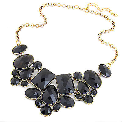 Jewelry necklace geometric polygon short temperament necklace e black 1707