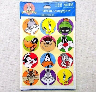 NEW Package Looney Tunes STICKERS 1997 Bugs Bunny Daffy Duck Tweety Hallmark