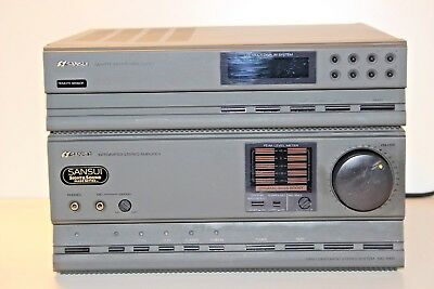 Sansui TA-1000 mini component stereo system Integrated Amplifier Quarts tuner