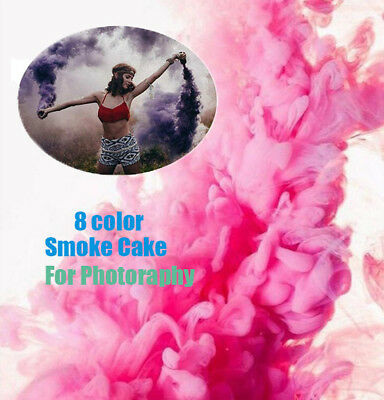 8Colors Smoke Cake Effect Show Round Bomb Photography Aid Tool Accessories
