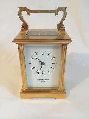 Vintage English Eleven Jewels Mappin & Webb 8 Day Carriage Clock