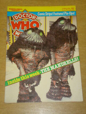 Doctor Who #18 1980 Feb 13 British Weekly Monthly Magazine Dr Who Dalek Cybermen