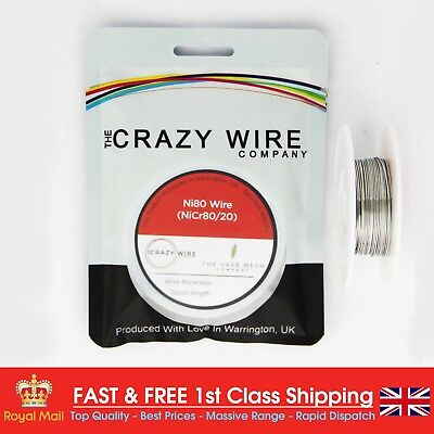 0.8mm (20 AWG) Ni80 Resistance Wire (Nichrome) - 10 Metre Spool