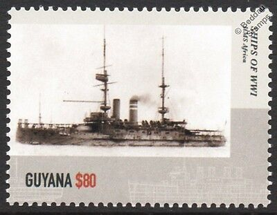 HMS AFRICA (1905) Pre-Dreadnought Battleship WWI Royal Navy Warship Stamp
