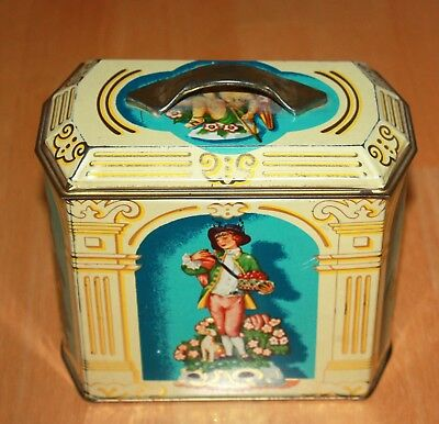 Vintage English Biscuit Tin with Lid