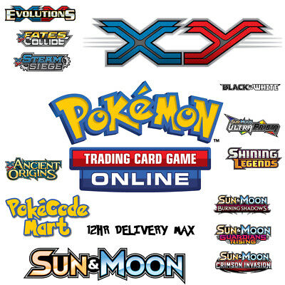 10 x MIXED Sun and Moon / XY Online Booster Codes - Pokemon TCGO