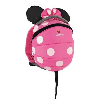 LittleLife Minnie Mouse Pink Toddler Backpack (Reins not included)