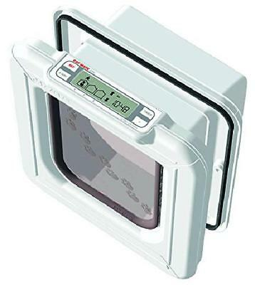 Cat Mate Elite Microchip Cat Flap with Timer Control - White
