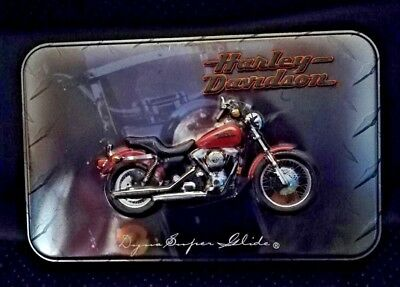 Harley Davidson Limited Edition Collectors Tin #342037 2 Deck Lot Playing Cards