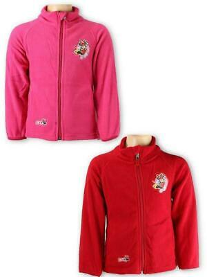 Minnie Mouse Girls Pink Red Warm Comfy Fleece Top Jacket Coats Zip Age 3-8 Years