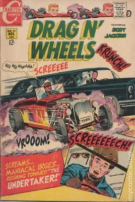 Drag N Wheels #31 1968 VG- 3.5 Stock Image Low Grade