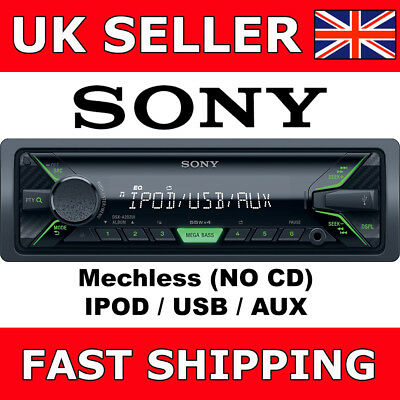 Sony DSX-A202Ui Mechless Digital Media Car Van Stereo iPod USB Aux Headunit NEW
