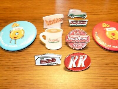 Krispy Kreme enamel pins lapel badge button donuts doughnuts