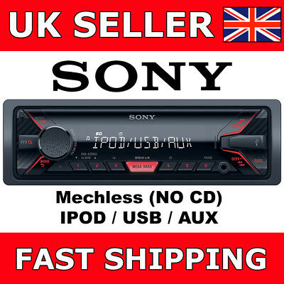 Sony DSX-A200Ui Mechless Digital Media Car Van Stereo iPod USB Aux Headunit NEW