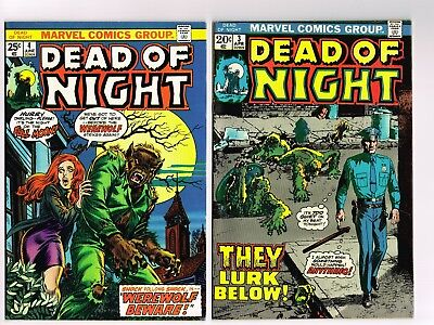 Dead Of Night #3 & #4 Marvel Comics 1974 Lot Monsters Horror Wolfman