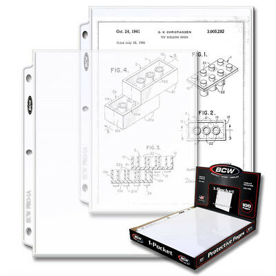 (100) BCW 1-POCKET 8 1/2 X11 PHOTO PICTURE or MAGAZINE ALBUM BINDER PAGES