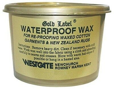 Gold Label Waterproof Wax 200g Re-proofing For All Waxed Cotton Garments Leather