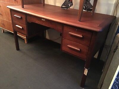 1950s Twin Pedestal Teachers Desk by Abbess. Vintage/Retro/Mid Century