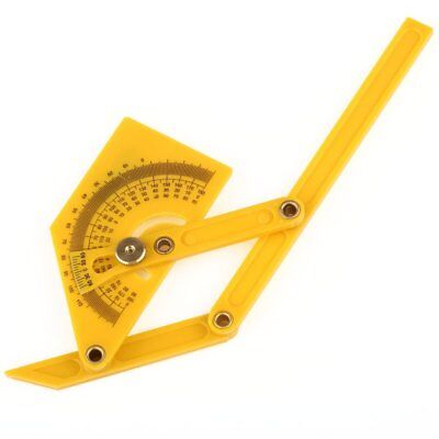 "Angle Finder Protractor 6"" Goniometer Miter Gauge Plastic Brass Fittings"