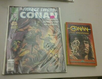 Savage Sword of Conan Magazine #35 FN- 5.5 movie adaptation book the barbarian