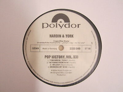 Lp-Hardin & York   / Musterplatte / Archiv / Mint / Rar /