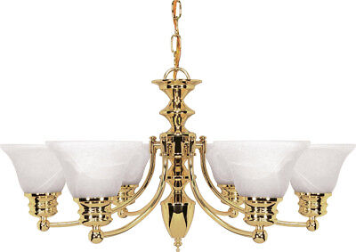 Nuvo Lighting 60/357 Empire Chandelier Polished Brass