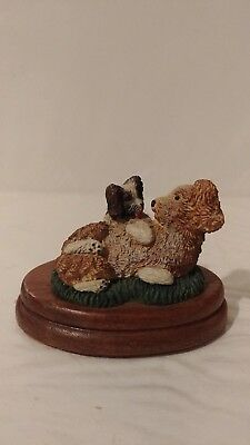 # Royal Doulton Sculptured Figurine: Shaggy Dogs  The Bronze Menagerie 1981