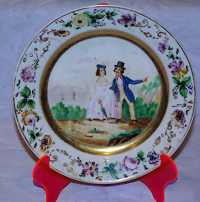 ANTIQUE RUSSIAN  IMPERIAL PORCELAIN FACTORY LUBOK PLATE 18th CENTURY VERY RARE!