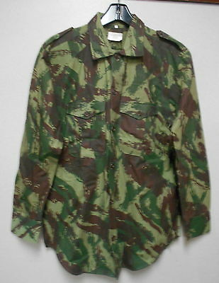 Authentic Portuguese Army Camouflage 100% Cotton Shirt, Us Size: Med. Reg. Nos.