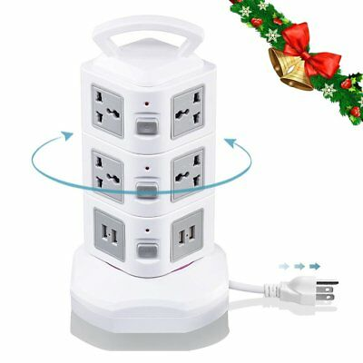 Power Strip With Surge Protector, Vertical Tower Power Outlet With Flexible