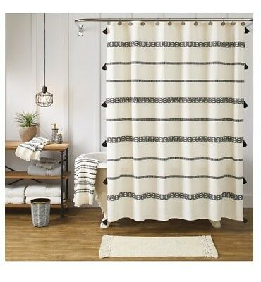 Better Homes U0026 Gardens Tribal Chic Ivory Shower Curtain Size 72 In W X 72 In