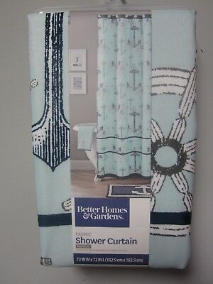 Better Homes & Gardens Nautical Shower Curtain Fabric Size 72 in L x 72 in W