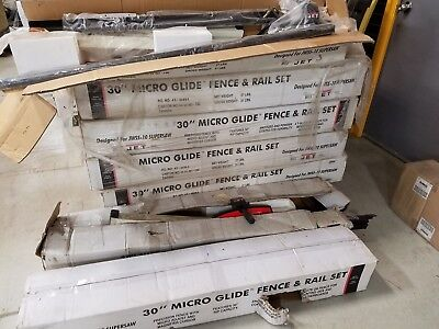 """Jet 30"""" Micro Glide Fence & Rail Set Model # JWSS-10 Fits Mostly all Table Saws"""