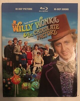 Willy Wonka and the Chocolate Factory (Blu-ray Digibook, 2009, Rare) Used